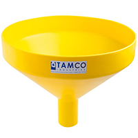 "17-1/4"" Top Diameter Yellow Tamco® Funnel with 2-7/8"" OD Spout"