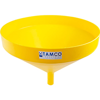 "21-1/4"" Top Diameter Yellow Tamco® Funnel with 1-3/4"" OD Spout"