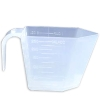 236.58cc (8 oz./1 cup) Rectangular Natural Polypropylene Scoop