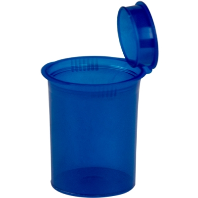3.75 oz. Transparent Blue Squeezetop® Hinged Lid Vial