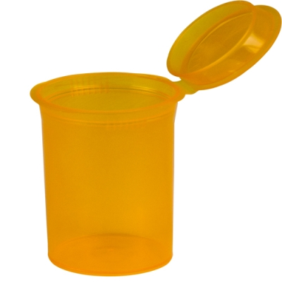 3.75 oz. Transparent Orange Squeezetop® Hinged Lid Vial