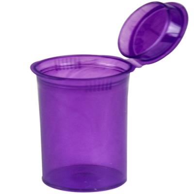 3.75 oz. Transparent Violet Squeezetop® Hinged Lid Vial