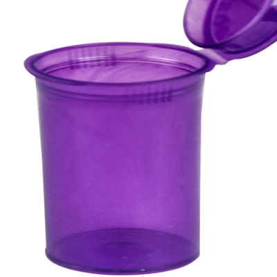7.50 oz. Transparent Violet Squeezetop® Hinged Lid Vial