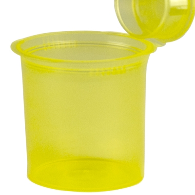 7.50 oz. Transparent Yellow Squeezetop® Hinged Lid Vial