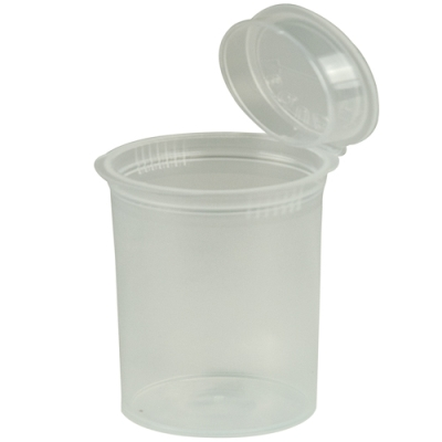 3.75 oz. Transparent Clear Squeezetop® Hinged Lid Vial