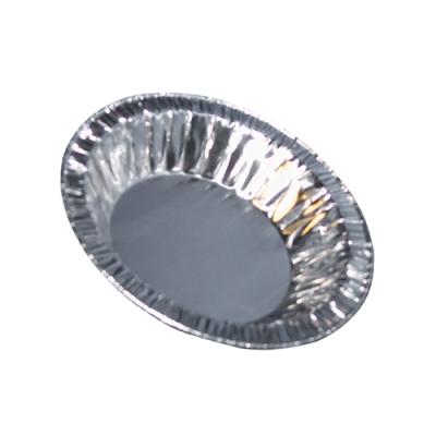 "3 oz. Aluminum Foil Pans - 4"" Top Diameter"