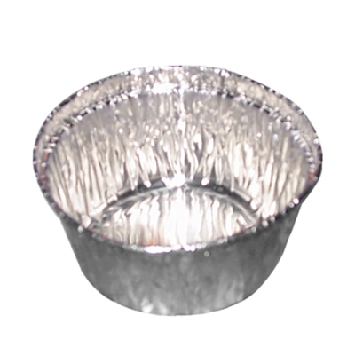 "4 oz. Aluminum Foil Pans - 3-1/4"" Top Diameter"
