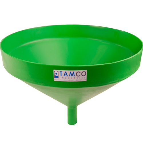 """21-1/4"""" Top Diameter Green Tamco® Funnel with 1-3/4"""" OD Spout"""