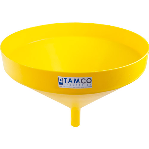 """21-1/4"""" Top Diameter Yellow Tamco® Funnel with 1-3/4"""" OD Spout"""
