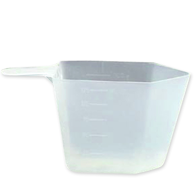 118.29cc (4 oz./1/2 cup) Rectangular Natural Polypropylene Scoop