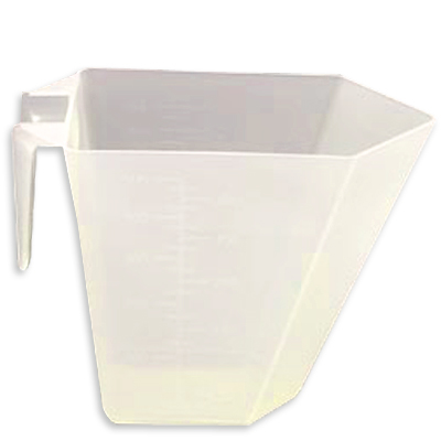 473.16cc (16 oz./2 cup) Rectangular Natural Polypropylene Scoop