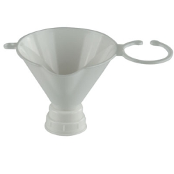 Opaque White Threaded Funnel for 24mm & 28mm Neck Finishes