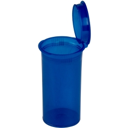 1.63 oz. Transparent Blue Squeezetop® Hinged Lid Vial