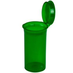 13 Dram/1.63 oz. Transparent Green Squeezetop® Hinged Lid Vial