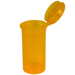 1.63 oz. Transparent Orange Squeezetop® Hinged Lid Vial