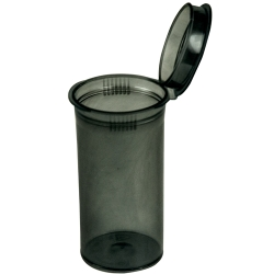 1.63 oz. Transparent Black Squeezetop® Hinged Lid Vial