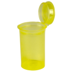 2.38 oz. Transparent Yellow Squeezetop® Hinged Lid Vial
