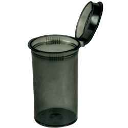 19 Dram/2.38 oz. Transparent Black Squeezetop® Hinged Lid Vial