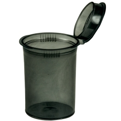 3.75 oz. Transparent Black Squeezetop® Hinged Lid Vial