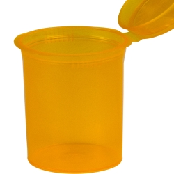 7.50 oz. Transparent Orange Squeezetop® Hinged Lid Vial