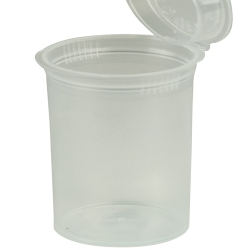 7.50 oz. Transparent Clear Squeezetop® Hinged Lid Vial