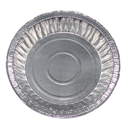 "9 oz. Aluminum Foil Pans - 6"" Top Diameter"