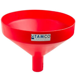 """17-1/4"""" Top Diameter Red Tamco® Funnel with 2-7/8"""" OD Spout"""