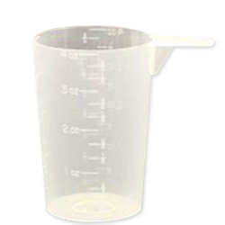 118.29 cc (4 oz./1/2 cup) Round Natural PP Scoop