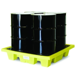 Poly-Slim-Line™ 6000 4 Drum Spill Pallet w/o Drain