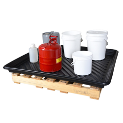 """UltraTech Ultra Spill Containment Utility Tray, 36"""" x 36"""" ID"""