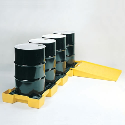 Inline Spill Containment 4 Drum Platform & Ramp