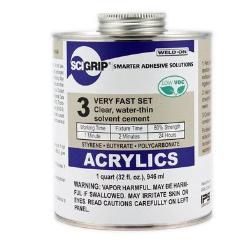 Pint Weld-On ® 3™ Acrylic Cement