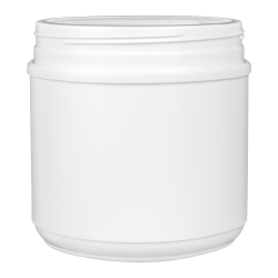 44 oz. HDPE White Canister with 120mm Neck (Lid Sold Separately)