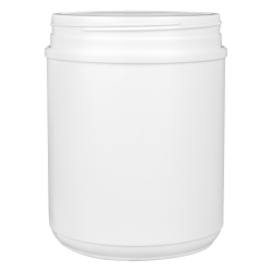 60 oz. HDPE White Canister with 120mm Neck (Cap Sold Separately)