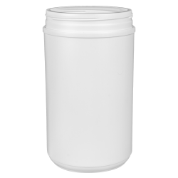 85 oz. HDPE White Canister with 120mm Neck (Lid Sold Separately)