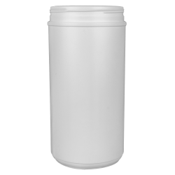 100 oz. HDPE White Canister 120mm Neck (Lid Sold Separately)