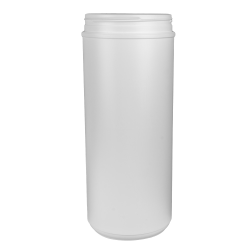 120 oz. HDPE White Canister with 120mm Neck (Lid Sold Separately)