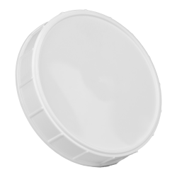 120mm White Polypropylene Coarse Ribbed Lid