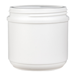 16 oz. HDPE White Canister with 89mm Neck (Lid Sold Separately)