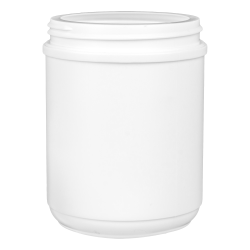 23 oz. HDPE White Canister with 89mm Neck (Lid Sold Separately)