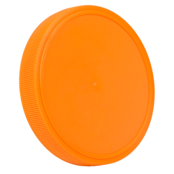 89mm Orange Polypropylene Fine Ribbed Lid