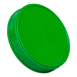 120mm Green Polypropylene Coarse Ribbed Lid