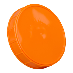 120mm Orange Polypropylene Coarse Ribbed Lid