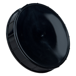 120mm Black Polypropylene Coarse Ribbed Lid