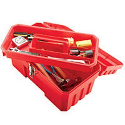 "14"" Red Tool Box 14"" x 8.08"" x 8.125"""