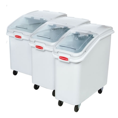 Rubbermaid Slant Front Ingredient Bins with Sliding Lid Scoop