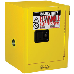 4 Gallon Manual-Close Justrite ® Sure-Grip ® EX Countertop Cabinet