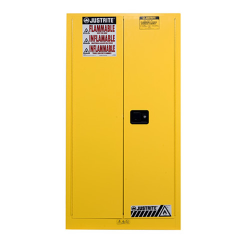 55 Gallon Manual-Close Justrite ® Sure-Grip ® EX Single Vertical Drum Cabinet