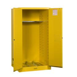 55 Gallon Self -Close Justrite ® Sure-Grip ® EX Single Vertical Drum Cabinet