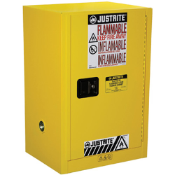 12 Gallon Manual-Close Justrite ® Sure-Grip ® EX Compac Cabinet